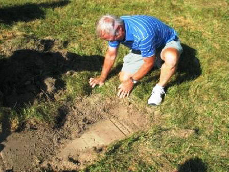Uncovering Franklin Berry's Headstone
