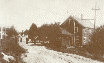 Bachelder's Corner Crossing Of The Trolley Line, About 1912