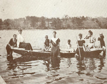 Vacationers At Upper Pleasant Pond, About 1910
